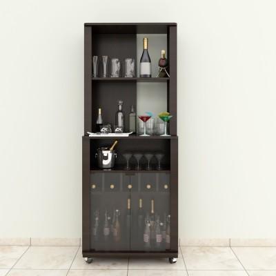 Crystal Furnitech Brugal Engineered Wood Bar Cabinet(Finish Color - Dark Elm)