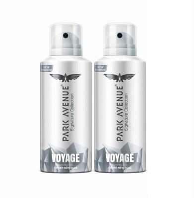 Park Avenue Voyage Deodorant Spray  -  For Men (232 g, Pack of 2)