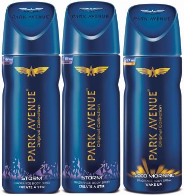 Park Avenue Storm & Good Morning Deodorant Spray - For Men(450 ml,...