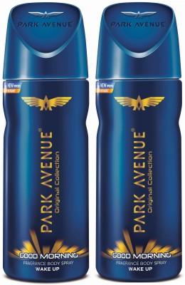Park Avenue Good Morning Deodorant Spray  -  For Men(200 g, Pack of 2)