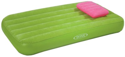 Intex Cozy Kidz Inflatable Airbed With Inflatable Pillow Inflatable Bed(Green)