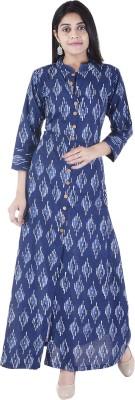 Desier Women Printed Straight Kurta(Blue) Flipkart
