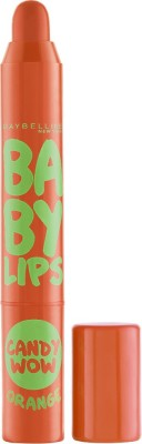 Maybelline Baby lips Candy Wow Lip Balm Orange(Pack of: 1, 2 g)