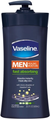 Vaseline Fast Absorbing Body and Face Lotion For Men 600ml
