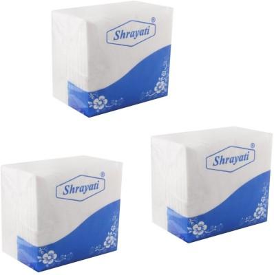 Shrayati Premium Paper Napkins-03 White Napkins(3 Sheets)