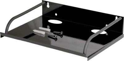 VR Set Top Box Stand Steel Wall Shelf(Number of Shelves - 1, Black)