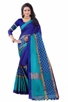 Bombey Velvat Fab Solid Kanjivaram Cotton Silk, Jacquard, Cotton Linen Blend, Silk Saree(Grey)