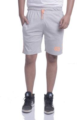 TRINITY JEANS COMPANY Solid Men's Grey Basic Shorts