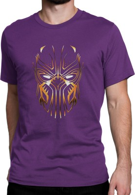Printview Printed Men's Round Neck Purple T-Shirt