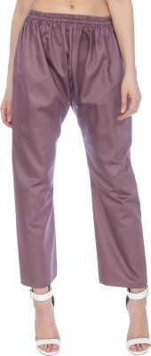 Bitterlime Regular Fit Women Purple Trousers