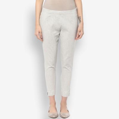 Krapal Regular Fit Women Grey Trousers