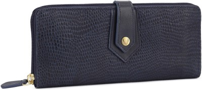 Hidesign Women Casual Blue Genuine Leather Wallet(8 Card Slots)