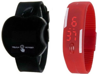 peter india BLACK APPLE TOUCH + RED RUBBER LED BEST CHOICE FOR GOOD RETURN GIFT ( KIDS ) Analog-Digital Watch  - For Boys & Girls