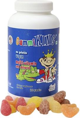 GUMMIKING GK100 Strawberry, Peach, Lemon, Fruity Flavored Gummies(100 g)