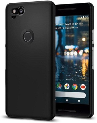 Power Back Cover for Google Pixel 2(Black, Silicon, Rubber)