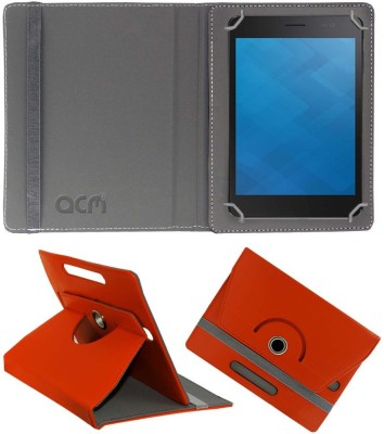 ACM Flip Cover for Dell Venue 7 3741(Orange, Cases with Holder, Artificial Leather)