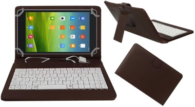 ACM Keyboard Case for Xiaomi Mi-Pad 8(Brown, Artificial Leather)
