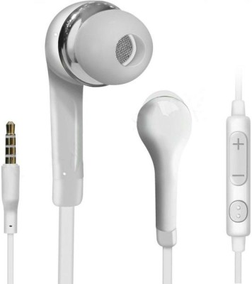 Case Finder YR Earphone Headsets With Mic and Volume Control For Galaxy Galaxy S4 Mini Wired Headset with Mic(White, In the Ear)