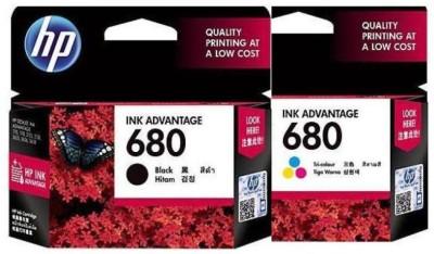 HP 680 combo pack Multi Color Ink(Magenta, Yellow, Cyan, Black)