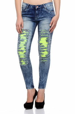 Fasnoya Skinny Women Light Blue, Green Jeans