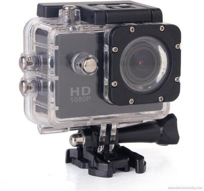 TARVIK POWSHOT 1080P Waterproof Digital with Accessories with LED Screen(memory card ) Sports Action Camera Pro Underwater Camera Sports and Action Camera(Black 12 MP) 1