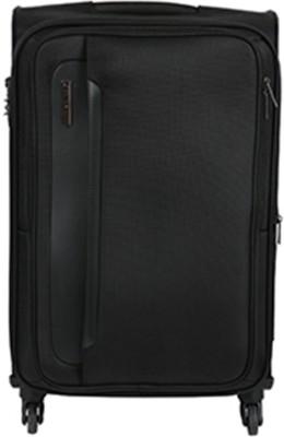447b0417b72 37% OFF on Safari Parker 55 cm Soft Trolley (Black) Expandable Cabin Luggage  - 21 inch(Black) on Flipkart
