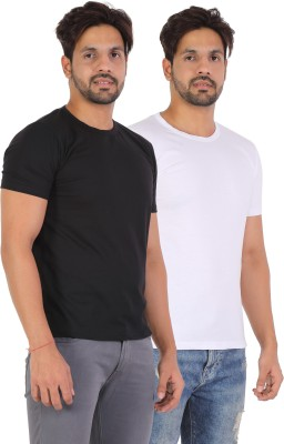 VIRAL LIFESTYLE Solid Men Round Neck Multicolor T-Shirt(Pack of 2)