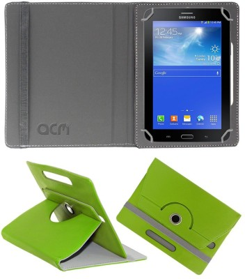 ACM Flip Cover for Samsung Galaxy Tab 3 Neo T111n(Green, Cases with Holder)