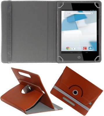 Fastway Book Cover for HP Slate 7 Voice Tab(Maroon, Artificial Leather)