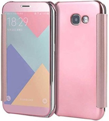 TGK Flip Cover for Samsung Galaxy A7-2017(Pink, Shock Proof)