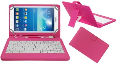 ACM Keyboard Case for Samsung Galaxy Tab 3 T311(Pink, Cases with Holder)
