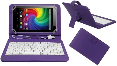 ACM Keyboard Case for Micromax Funbook Mini P410i(Purple, Cases with Holder)