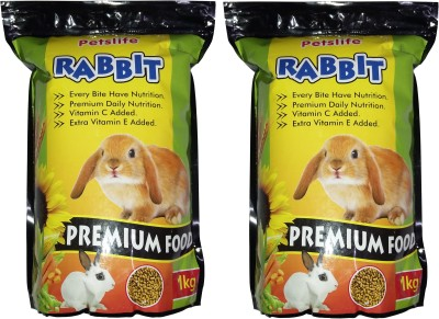 ROYAL PET Petslife RABBIT Food (1kg   Pack of 2) Premium Quality & Healthy Food For All Kinds of Rabbit   Every Bite Have Nutrition   2 Dry Rabbit Food(Pack of 2)