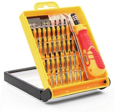 Flynn 32 in 1 Screw Driver Set Small Pocket Screwdriver Set Bits Tool Kit Combination Screwdriver Set(Pack of 32)  available at flipkart for Rs.229