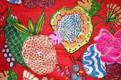 Rajcrafts 5-MTR_RHF_0050 Furit print Jaiprui Cotton Running Fabric 5 Meter Dress Making Fabric, Fabric, Running Fabric, Cotton Fabric, Dress Runnig fabric,Handmade Fabric , Hand block Fabric, Fabric By Meter, Cotton Fabric For men, Cotton fabric for woman Sofa Fabric(Red 5 m)