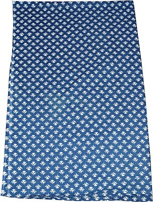 Rajcrafts 5-MTR_RHF_0028 Indgio Blue Cotton Fabric 5 Meter Screen Printed Cotton Fabric Printed In Jaipur, Fabric, Running Fabric, Cotton Fabric, Dress Runnig fabric,Handmade Fabric , Hand block Fabric, Fabric By Meter, Cotton Fabric For men, Cotton fabric for woman Sofa Fabric(Blue 5 m)