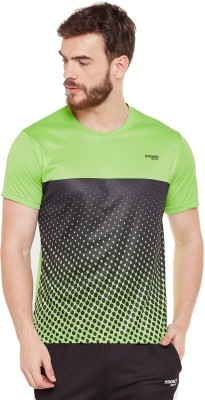 Masch Sports Printed Men Round Neck Light Green T-Shirt Flipkart