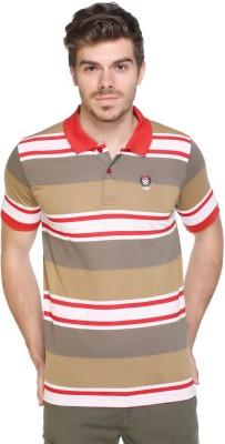 HARBOR N BAY Striped Men's Polo Neck Multicolor T-Shirt