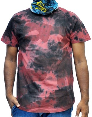 scopux Printed Men's Round Neck Multicolor T-Shirt
