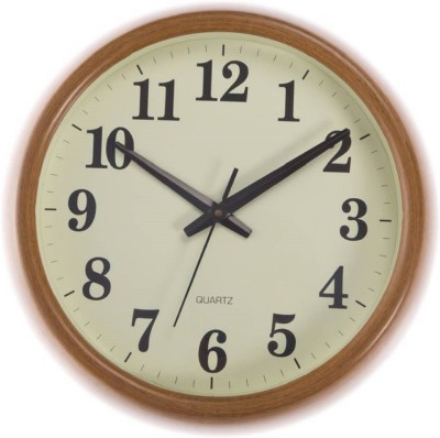 Sokariya Analog Wall Clock(wood, With Glass)