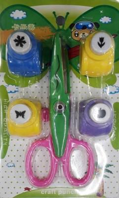 bestwebuy Art and craft scissor with punch Scissors (Set of 1, Multicolor)