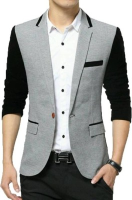 One Click Solid Single Breasted Casual, Formal, Party Men
