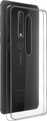 Monagamy Back Cover for Nokia 6.1 Plus, Nokia 6 White