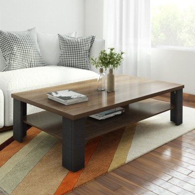 Crystal Furnitech Sigma Engineered Wood Coffee Table(Finish Color - wallnut + wenge)