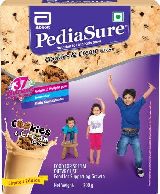 pediasure Cookies and Cream Nutrition Drink(Cookies and Cream Flavored)  available at flipkart for Rs.295