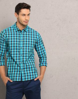 Metronaut Men's Checkered Casual Spread Shirt
