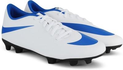 Nike NIKE BRAVATA II FG Football Shoes For Men(White, Blue) 1
