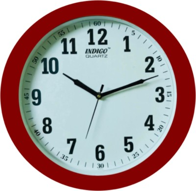 indigo Analog 30 cm Dia Wall Clock(Red, With Glass)  available at flipkart for Rs.469