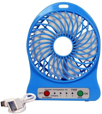 KBOOM New Arrival Mini Air Conditioner Usb Mini Cooler/mini Fan/ceiling/usb Fan For Kitchen/home/indoor/outdoor/office Ceiling/wall/exhaust/ Mini Fan/mini cooler 4 Blade Table Fan(Multicolor)  available at flipkart for Rs.239