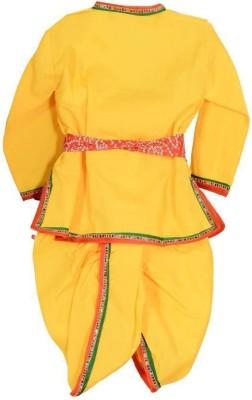 Riya fashion Krishna Kids Costume Wear Boys Festive & Party Boys Festive & Party Ethnic Jacket, Kurta and Dhoti Pant Set(Yellow Pack of 01) Flipkart